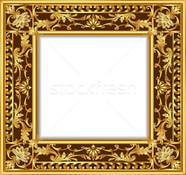 Illustratie vintage grens frame retro Stockfoto © yurkina