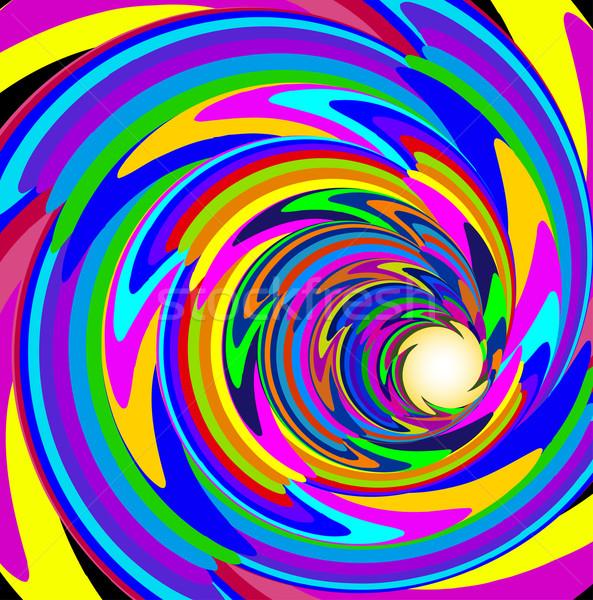 Cosmique lumineuses spirale lignes illustration résumé Photo stock © yurkina