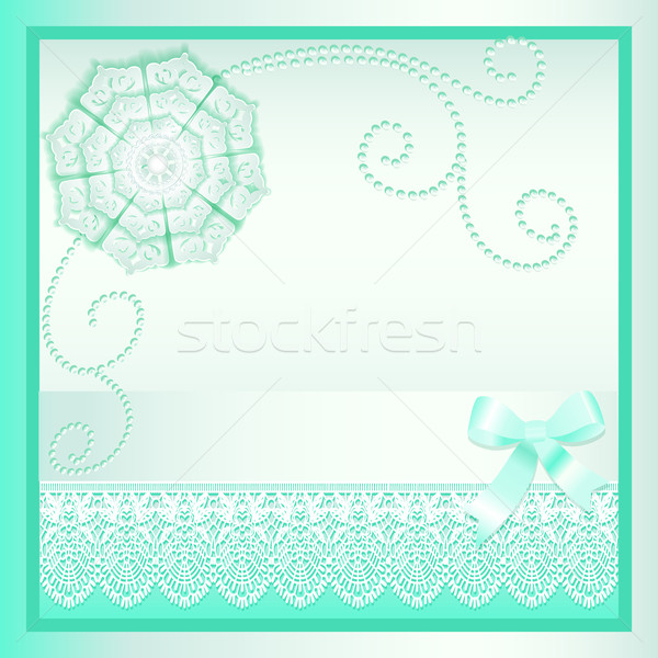 background card with a bow and delicate flower Stock photo © yurkina