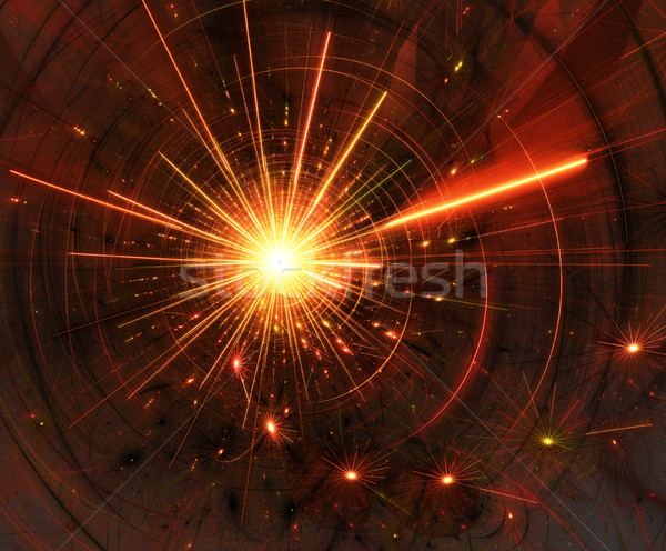 abstract illustration of a fractal background of bright flash Stock photo © yurkina