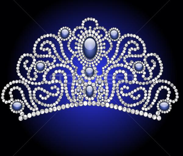 Esküvő nőies kék kő illusztráció terv Stock fotó © yurkina