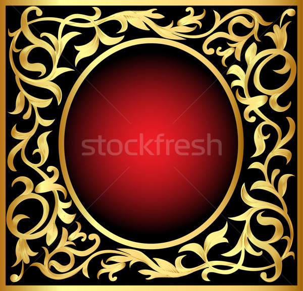 winding gold  pattern frame Stock photo © yurkina