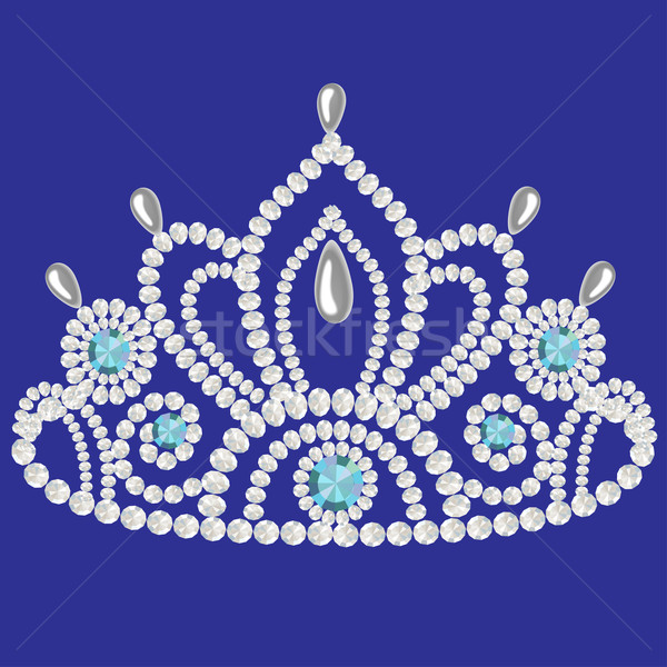corona diadem feminine wedding  we turn blue Stock photo © yurkina