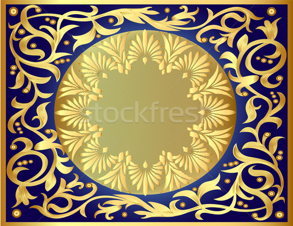 Stock photo: illustration background with gold