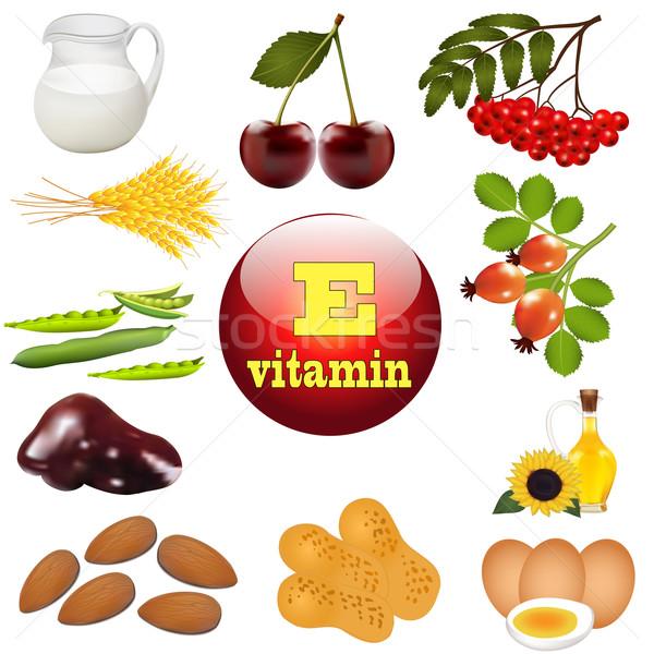 Сток-фото: иллюстрация · витамин · происхождение · завода · природы