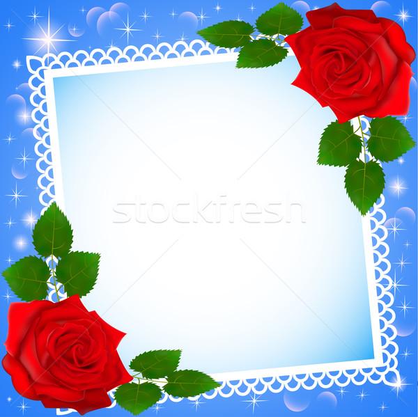 フレーム 赤いバラ 実例 花 花 ストックフォト © yurkina
