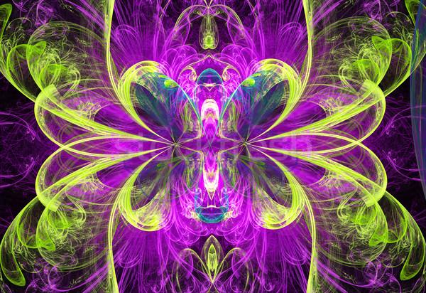 Ilustração abstrato fractal floral projeto flor Foto stock © yurkina