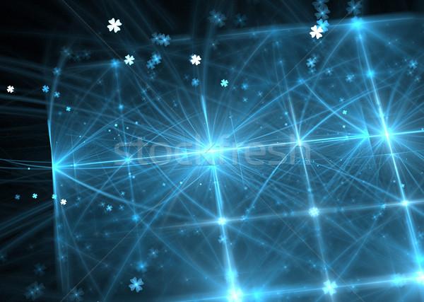 Ilustração fractal azul linhas internet Foto stock © yurkina