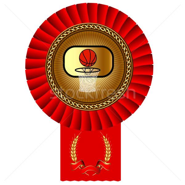 Kosárlabda labda aranyérem bürokrácia illusztráció számítógép Stock fotó © yurkina