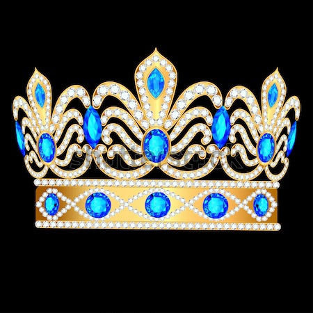tiara crown women's wedding with a blue stone Stock photo © yurkina