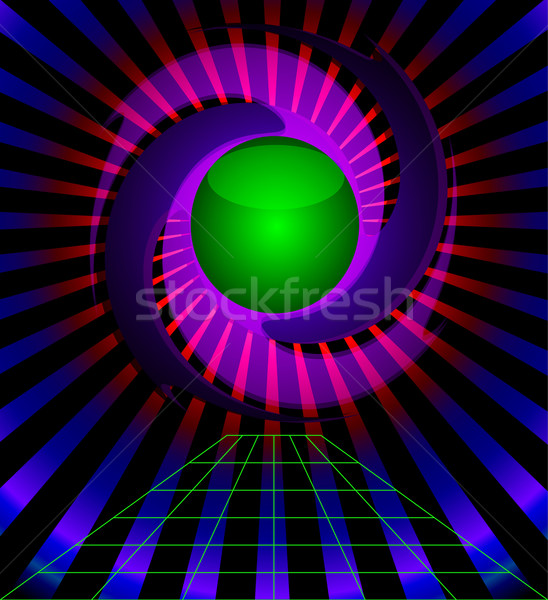 background with ray and twist ball Stock photo © yurkina