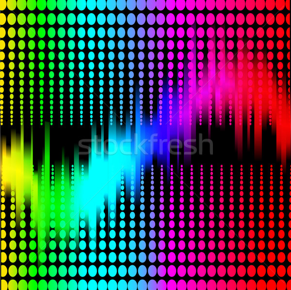 Abstract spectrum equalizer zwarte illustratie computer Stockfoto © yurkina