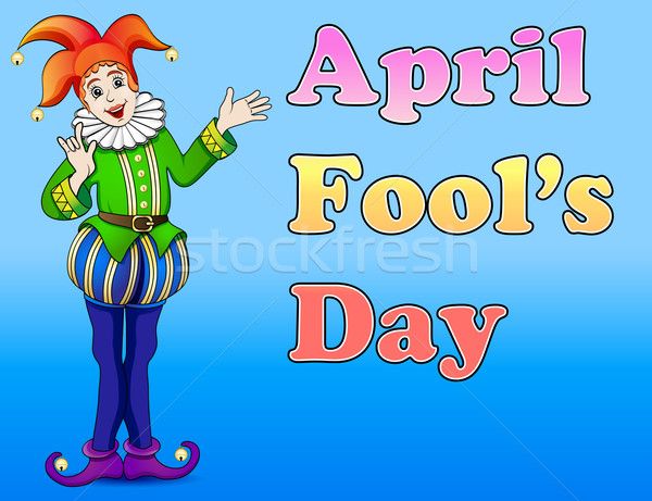 An illustration of a jester April Fool's Day Stock photo © yurkina