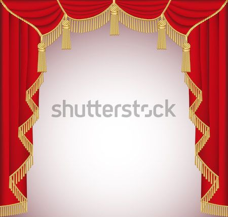 background with red curtains with precious stones for invitatio Stock photo © yurkina