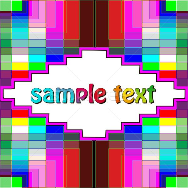 Színes geometrikus minta szöveg illusztráció művészet hullám Stock fotó © yurkina