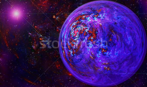 Mondo vortice spazio star frattale illustrazione Foto d'archivio © yurkina
