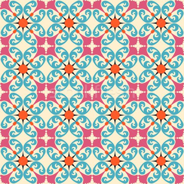 実例 シームレス フローラル 装飾的な パターン 花 ストックフォト © yurkina