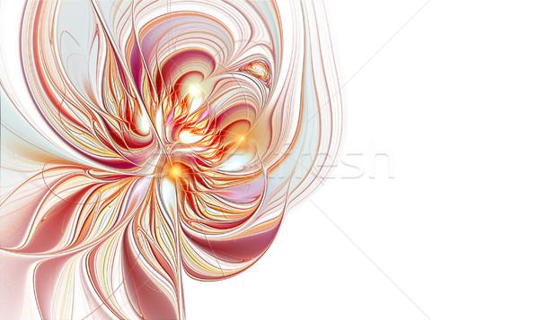 Illustrazione fiore copia spazio frattale computer natura Foto d'archivio © yurkina