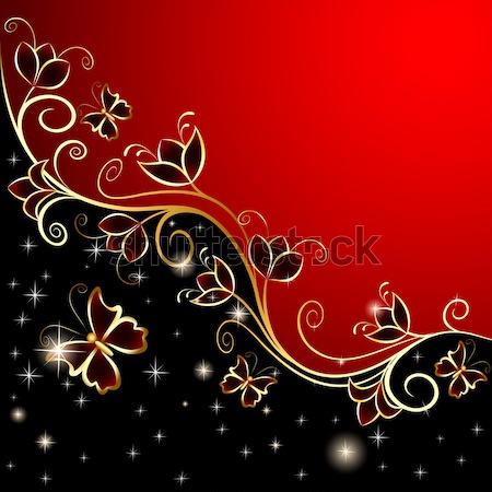 background with ornaments of gold and precious stones Stock photo © yurkina