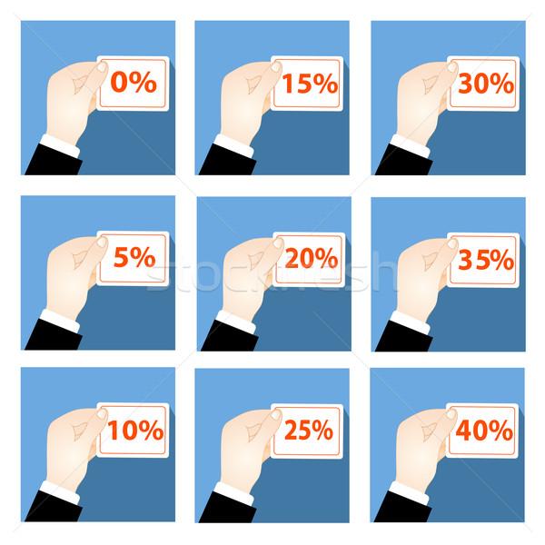 Ikon szett kéz kölcsön szolgáltatás illusztráció üzlet Stock fotó © yurkina