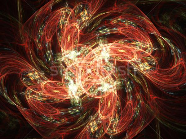 фрактальный цветок темно иллюстрация аннотация природы Сток-фото © yurkina