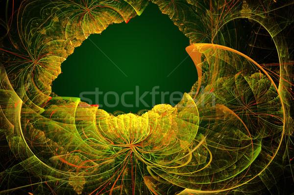 実例 抽象的な フラクタル フレーム フローラル パターン ストックフォト © yurkina