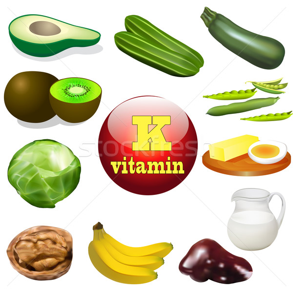 Vitamine usine animaux produits illustration fruits Photo stock © yurkina