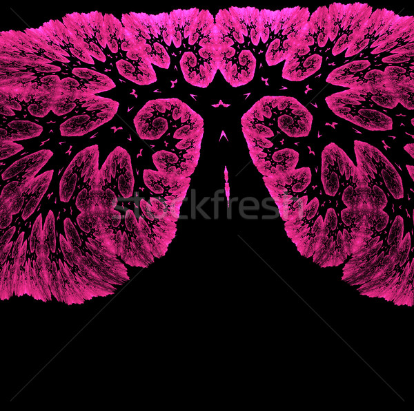 Illustration of an abstract fractal background with a tree on Ha Stock photo © yurkina