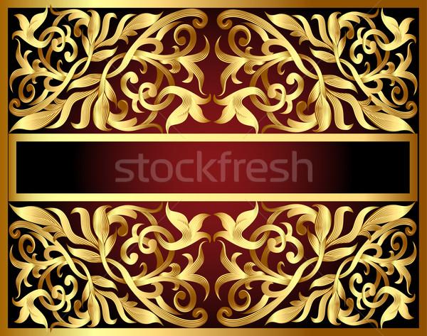 金 パターン 文字 実例 抽象的な フレーム ストックフォト © yurkina