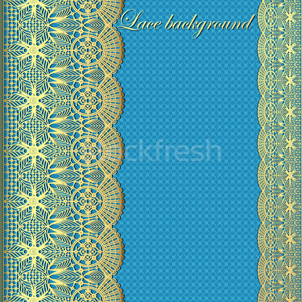 background with stripes of gold lace and place for text Stock photo © yurkina