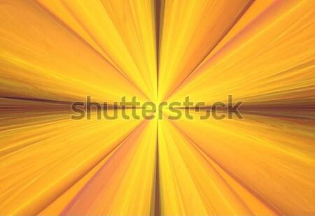 Ilustração fractal abstrato brilhante sol Foto stock © yurkina