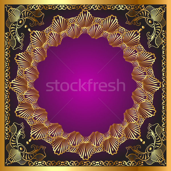 illustration vegetable winding gold  Stock photo © yurkina