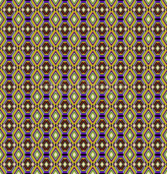 seamless background of geometric ornament rhombus Stock photo © yurkina
