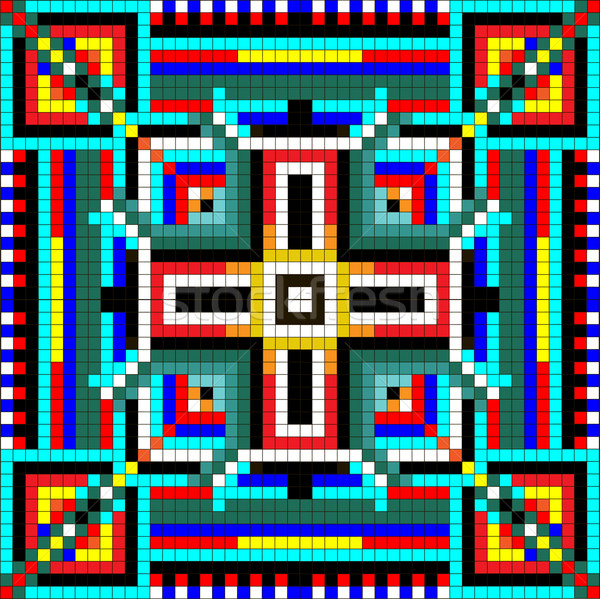 シームレス モザイク 幾何学的な 飾り 正方形 ストックフォト © yurkina