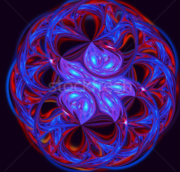 иллюстрация аннотация фрактальный кружево цветочный шаблон Сток-фото © yurkina