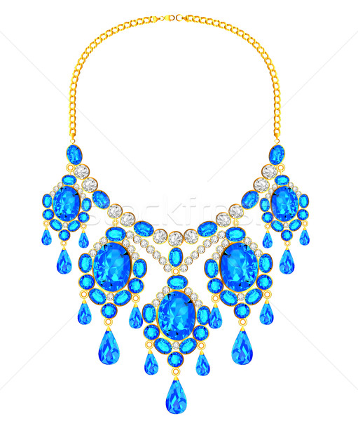 illustration of a woman's necklace with precious stones Stock photo © yurkina