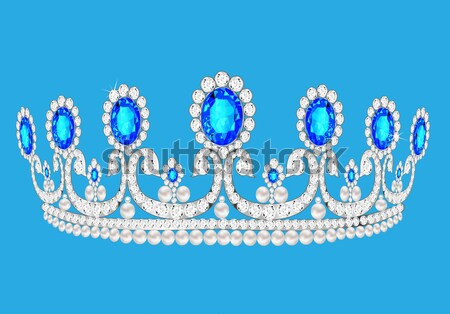 crown of gold silver and precious stones Stock photo © yurkina