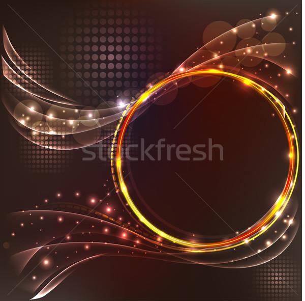 Soyut kahverengi ışık efektleri örnek ışık dizayn Stok fotoğraf © yurkina