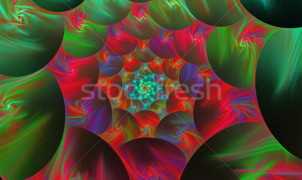 Spirale fractal lumineuses fleur illustration eau Photo stock © yurkina