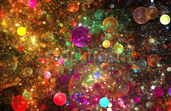 Ilustração fractal abstrato padrão tecnologia Foto stock © yurkina