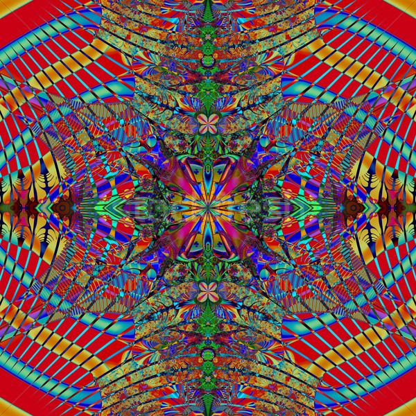 Kleurrijk fractal natuurlijke fenomeen wiskundig ingesteld Stockfoto © yurkina