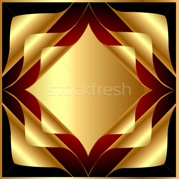 background with gold(en) wreathed small piece of coal Stock photo © yurkina