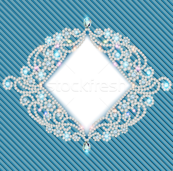 Stock photo:  background with ornament with precious stones