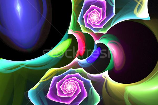 フラクタル 明るい 色 スパイラル 1泊 実例 ストックフォト © yurkina