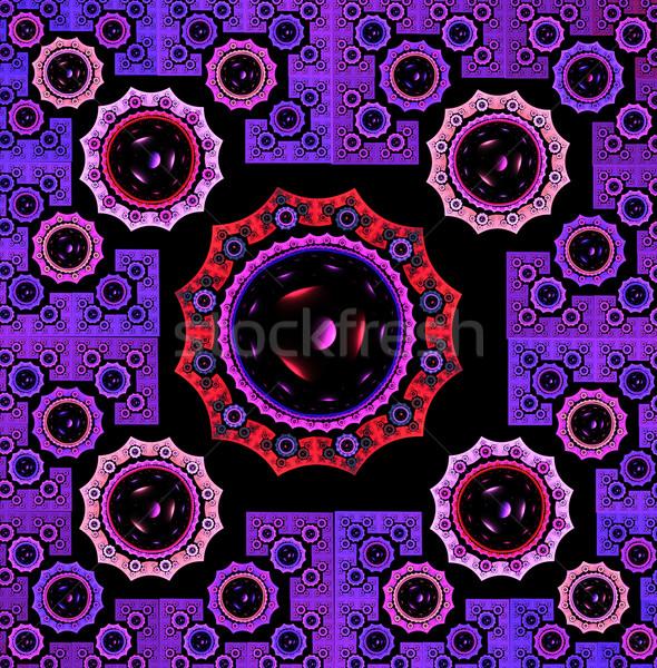фрактальный иллюстрация ярко ковер геометрический Сток-фото © yurkina
