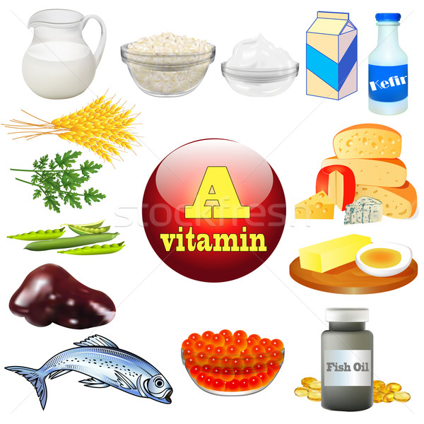 vitamin a and plant and animal products Stock photo © yurkina