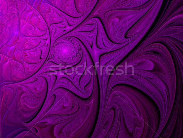 Fractal roxo ornamento ondas ilustração computador Foto stock © yurkina