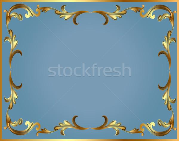フレーム 金 パターン ターン 青 実例 ストックフォト © yurkina