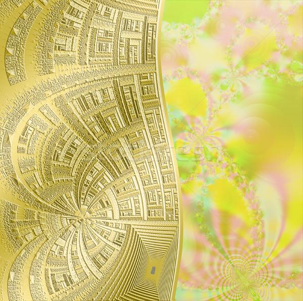fractal floral pattern, digital artwork for creative graphic de Stock photo © yurkina