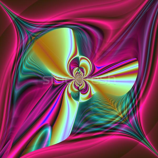 Színes fraktál természetes jelenség matematikai szett Stock fotó © yurkina